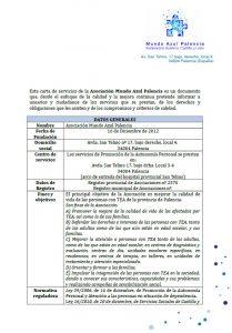 Carta de servicios autonomía personal